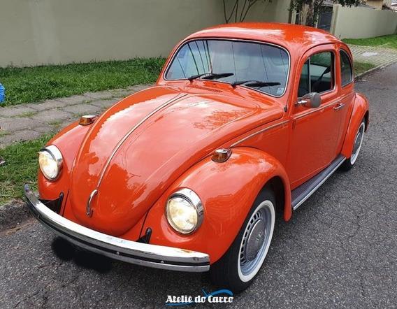Fusca 1300 L 1976 Vermelho Ibérico Restaurado/pronto