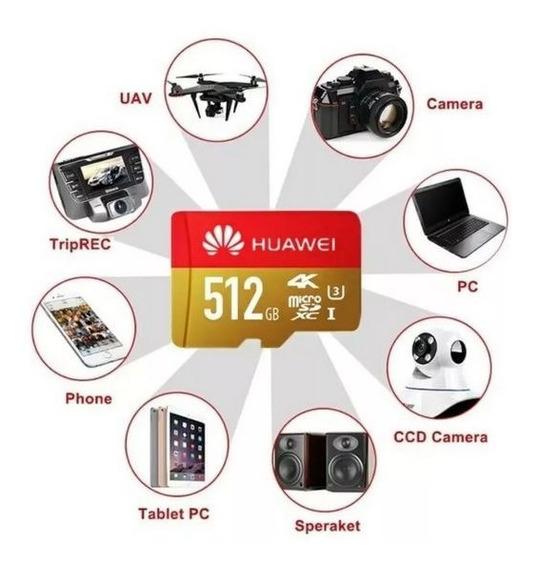 Cartão De Memória 512 Gb Micro Sd 4k Para Smartphone Câmera