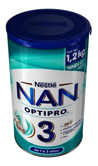 Fórmula para lactantes en polvo Nestlé Nan OptiPro 3 en lata de 1.2kg