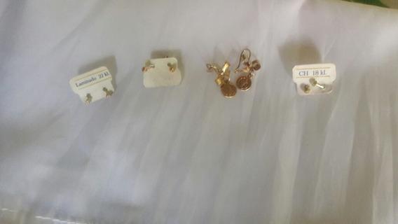 3 Broqueles Y Unos Aretes De San Benito Oro Laminado