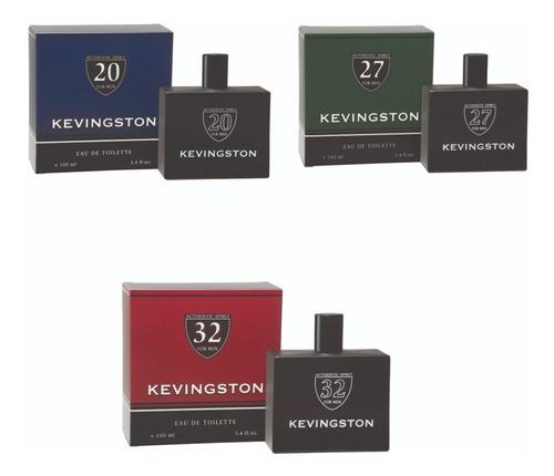 Imagen 1 de 5 de Pack X3 Perfumes Kevingston Números 20/27/32  X100ml