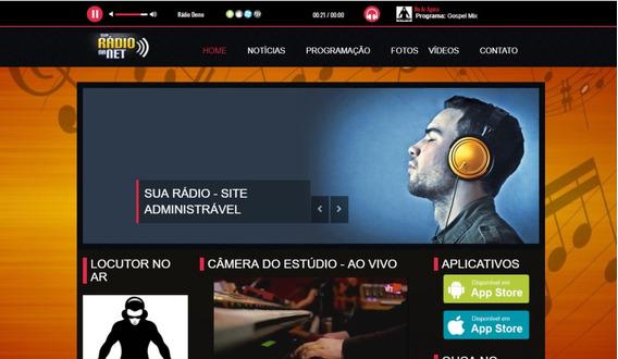 Site Para Rádios Moderno 2019 - Instalação Gratuita