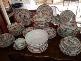 Antigo Aparelho De Jantar Porcelana Francesa Limoges 70 Pçs