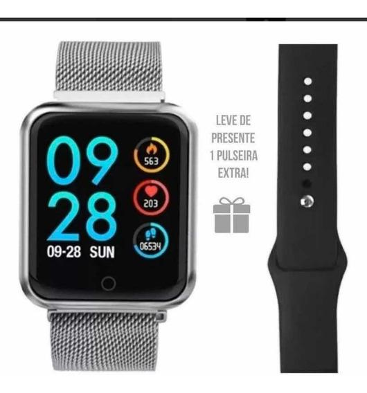 Relógio Smart Whatch P70 Pro Com Duas Pulseiras.