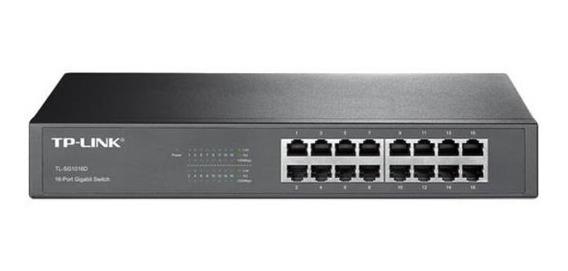 Switch Tp-link 16 Ports 10/100/1000 Rack Tl-sg1016d