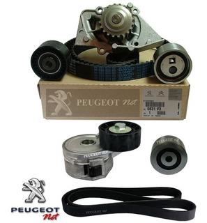 Kit Distribución + Bomba + Poly-v Orig Peugeot 307 2.0 Hdi