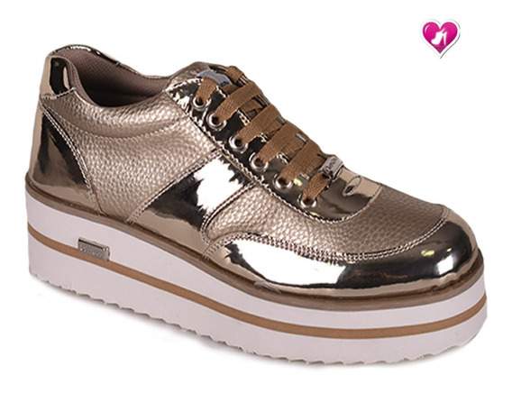 Zapatilla Sneakers Plataforma Modelo Vitto De Shoes Bayres