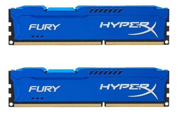 Memoria Ram 16gb Kingston Hyperx Fury Kit (2x8gb) 1600mhz Ddr3 Cl10 Dimm - Blue (hx316c10fk2/16)