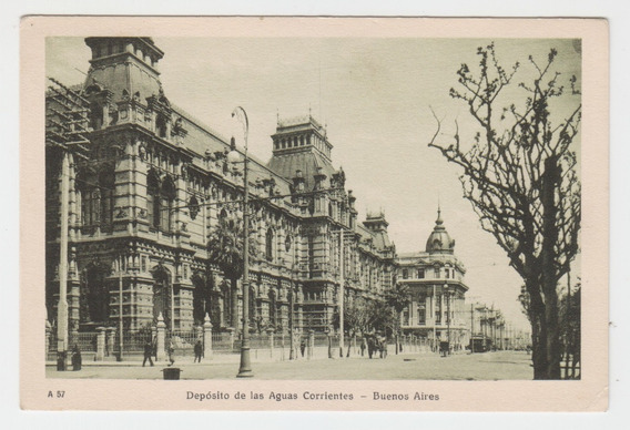 Antigua Postal Buenos Aires Edificio Aguas Corrientes