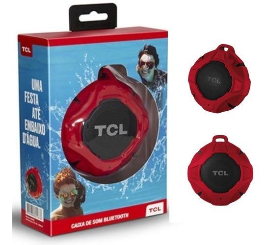 Caixa Bluetooth Tcl Bs05 Ipx7, Vermelha, À Prova D
