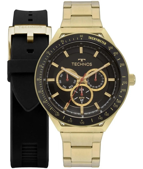 Relógio Technos Masculino Skymaster 6p29aka/t2p