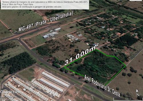 31.000m2 - Vendo Terreno Urbano 100% Plano - Saída Prata