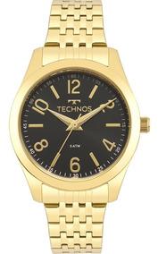 Relógio Technos Feminino Dourado Preto Promoção 2035mpd/4p