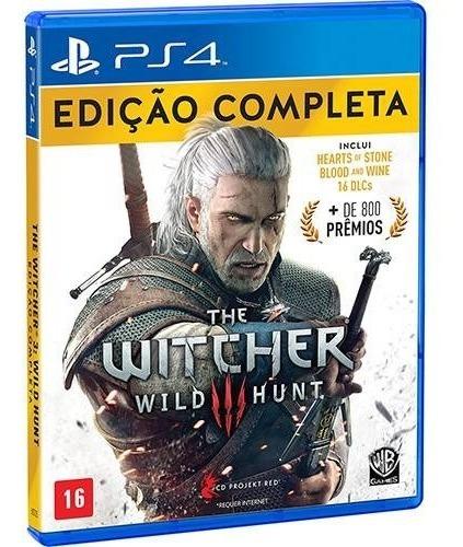 The Witcher 3 Wild Hunt Edição Completa Ps4 Mídia Física!