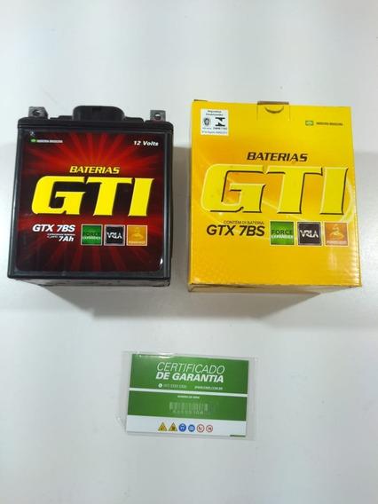Bateria Gti Gtx-7bs Twister 250 Fazer Tornado Gel 7a