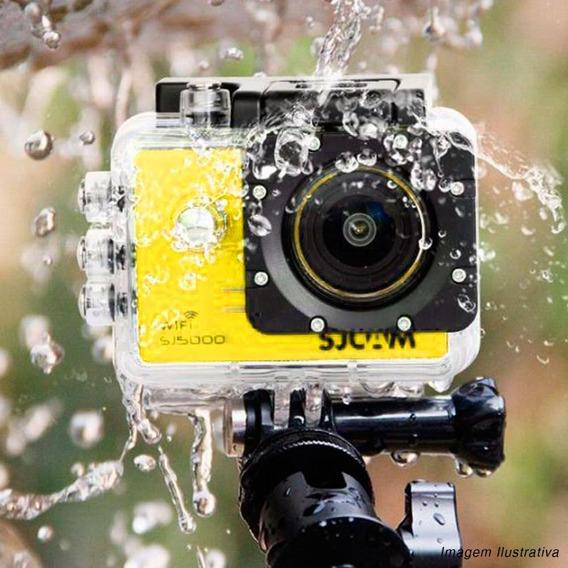 Câmera Capacete Moto Paintball Prova Água Sjcam Amarela