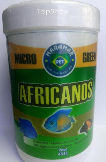 Ração P/ciclídeos Africanos Microgreen-454g 1,5mm-maramar