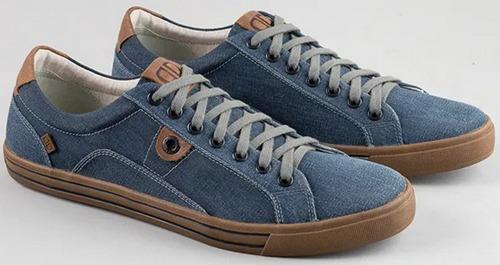 Sapatenis Democrata Casual Tecido - 209104 Jeans