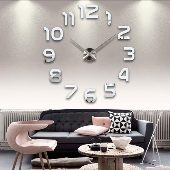 Relógio D Parede Grande 3d Sala Adesivo Decoração Números