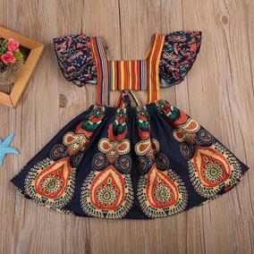 Vestido Estampado Tropical Para Bebês