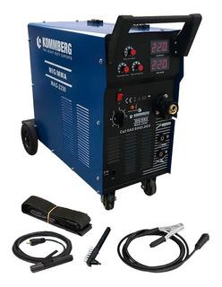 Soldadora Dual Kommberg 220 Amp Mig Mag Alambre Electrodo
