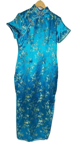 Vestido Chines Longo
