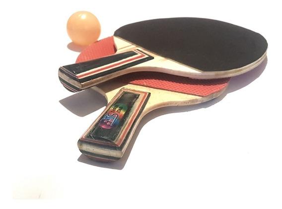 Set De Raquetas De Ping Pong (un Par) + Pelota Myp