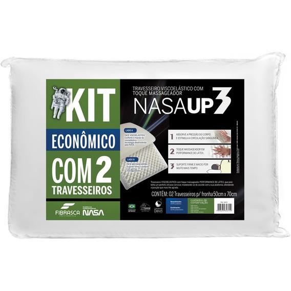 Kit 2 Travesseiros Fibrasca Nasa Up 3 50x70cm