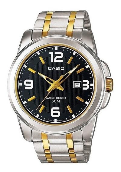 Relogio Casio Mtp 1314sg-1 Calend Nºs Grandes Cristal Wr50m