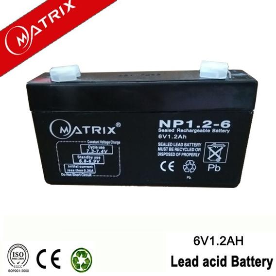 Bateria Pila Recargable 6v 1.2ah Planta Alarma Ups C1