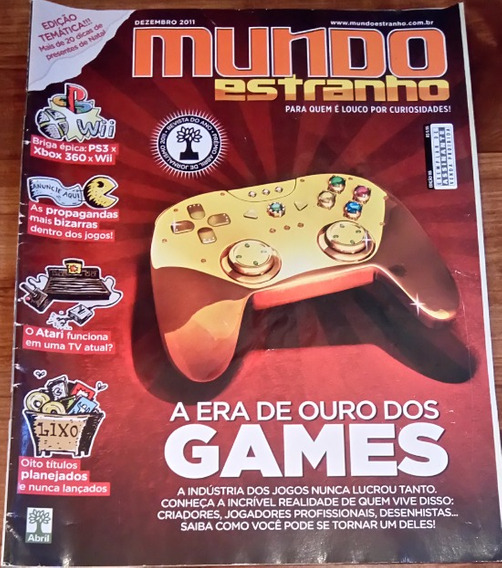 Revista Mundo Estranho. A Era De Ouro Dos Games Frete Gratis