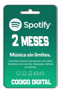 Tarjeta De Regalo Spotify 2 Meses $30.000 Colombia