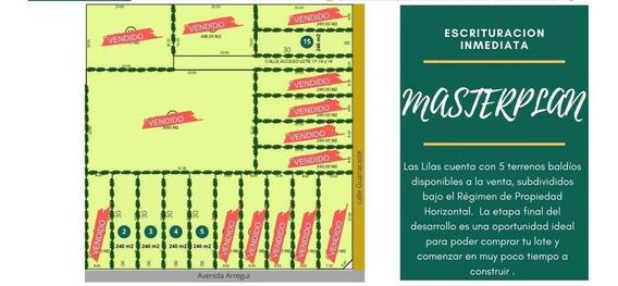 Loteo Las Lilas / Lotes En Venta 8x30 Sobre Av Arregui (ex Florida) / Jose C Paz
