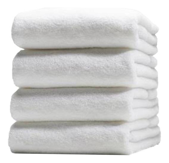 5 Toallas Baño Completo Blanca 90x150 Cm 100% Algodón 750 Gr
