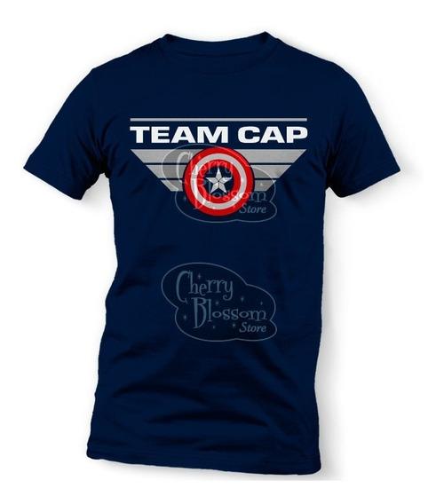 Playeras Team Captain America Endgame Avengers Marvel Cap