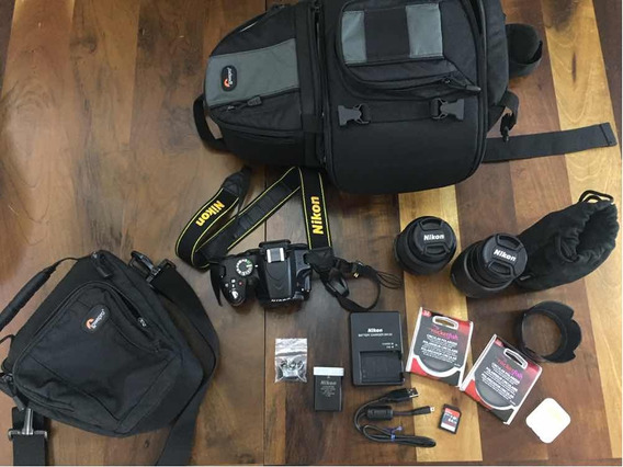 Nikon D3200 + Lentes + Wi-fi + Polarizadores + Cartão Sd 64