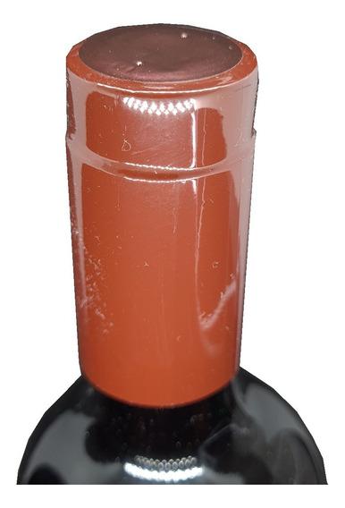 100 Lacre Termoencolhível P/ Vinho Cor Bordo 3,4cm X 6cm