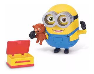 Minion Bob Con Teddy Bear Osito Figura Lujo Articulada Nueva