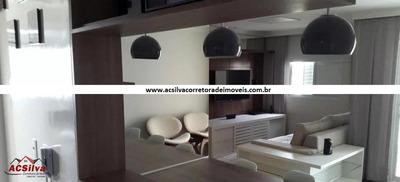 Apto C/ Varanda Gourmet / Mobiliado - Planalto - Sbc