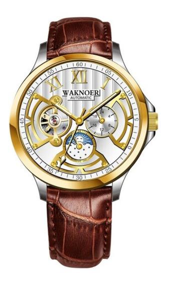Relógio Masculino Waknoer 100% Funcional Automático + Caixa