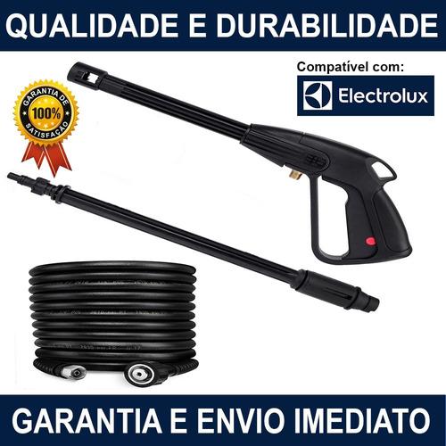 Imagem 1 de 10 de Kit Pistola Mangueira 10mt Lavadora Electrolux Power Wash