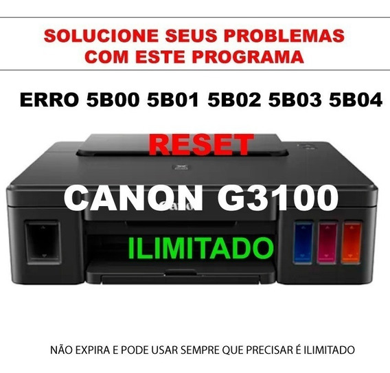Reset Canon G2000 G2100 G3000 G3100