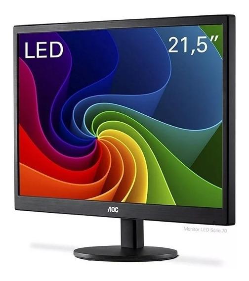 Monitor Aoc 21,5 Led E2270swn Wide Vesa Full Hd