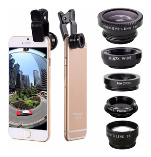 Universal 5 In1 Clipe Camera Kit Tele Lente Telefone Cpl Fis