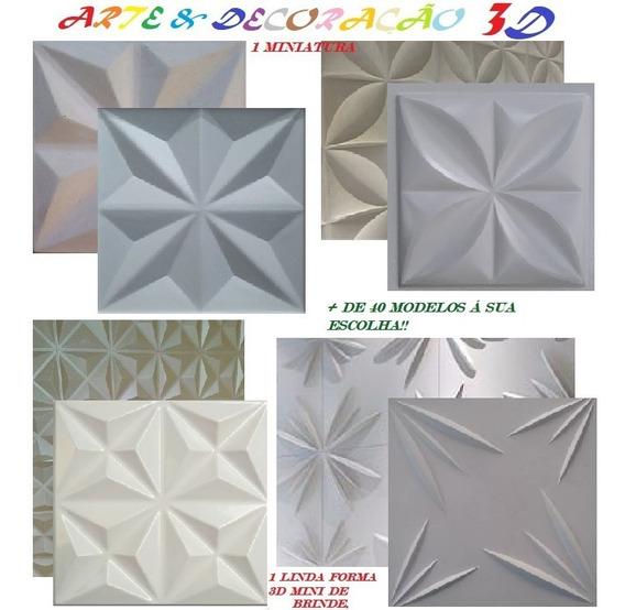 4 Formas De Plástico Abs 40x40 Cms P/ Gesso 3 D + Brinde Md