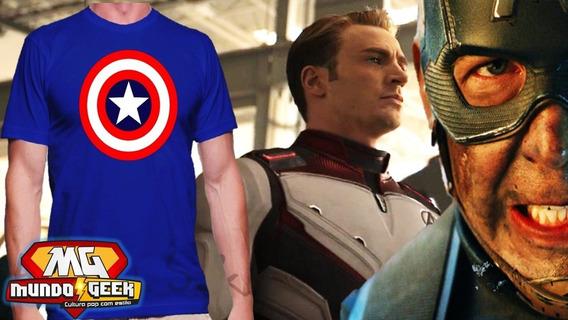 Camiseta Capitão America Logo Classico