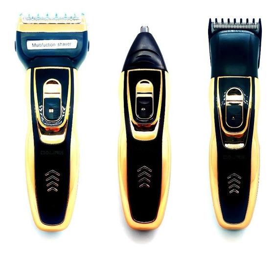 Máquina De Cortar Cabelo Daling 3 Em 1, Máquina De Barbear, Barbeador Eletrico, Aparador De Pelos,-recarregável