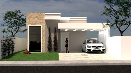 Imagem 1 de 4 de Planta De Casa 3 Quartos - Projeto Arquitetônico Completo