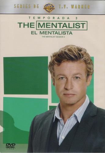El Mentalista The Mentalist Tercera Temporada 3 Tres Dvd