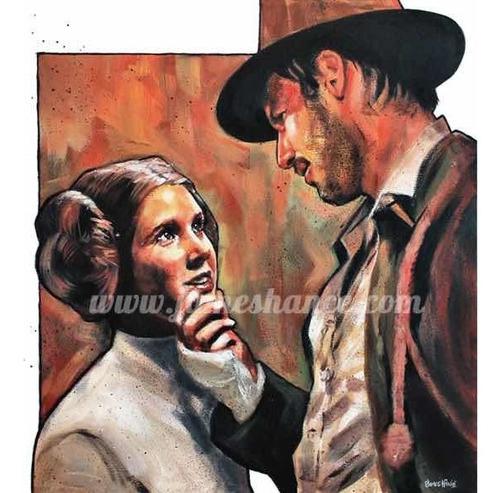 Póster Han Solo Y Princesa Leia